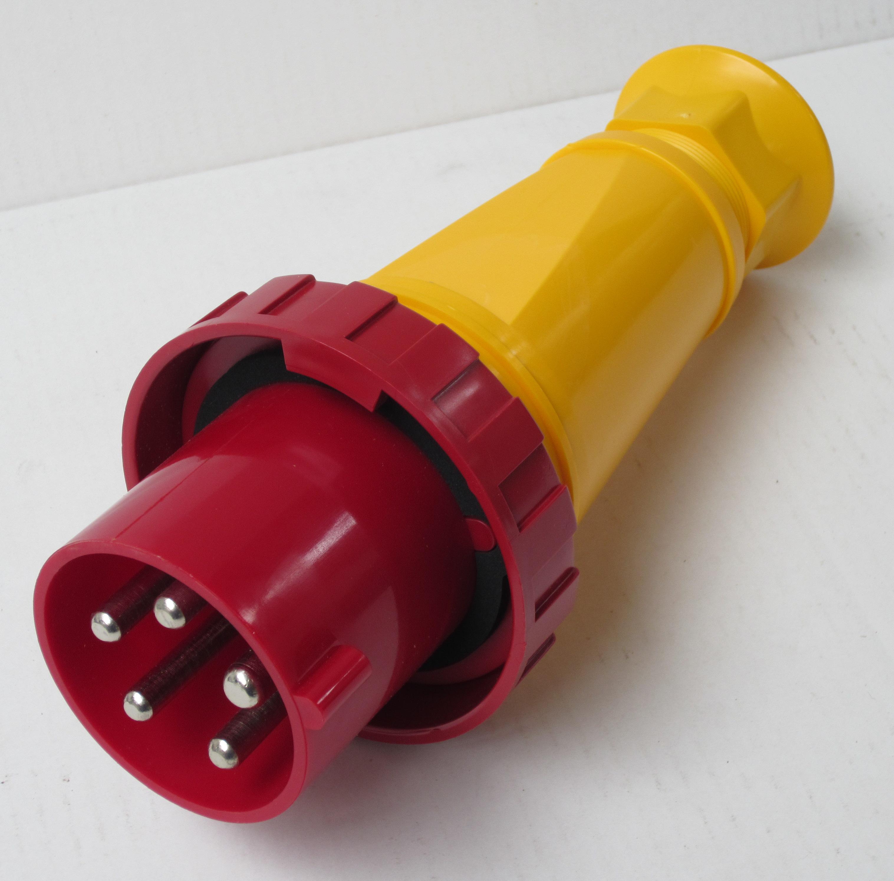 CEE-stekker IP67 5-polig 63Amp. 400Volt rood/geel