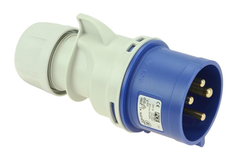 CEE-stekker 4-polig 32 Amp. 9h, PCE 024-9