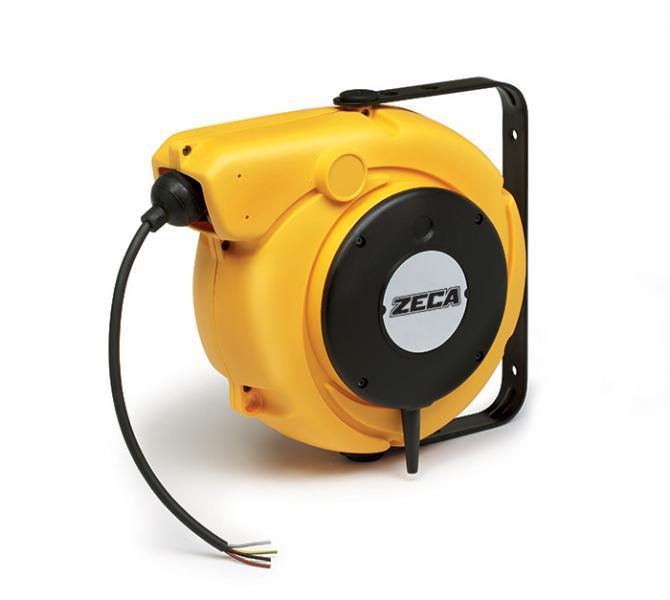 Veerkabelhaspel 3G1,5mm² - 10+1,5m, ZECA 5827/XF