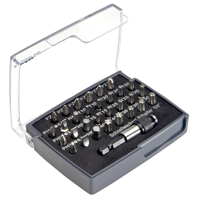 Friedrich Bitbox 1/4inch 31 dlg.met magnetische kogelbithouder